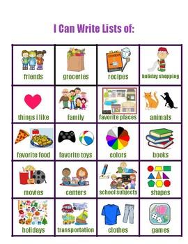 List writing tool