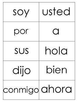 Lista de Palabras de alta frecuencia(100 palabras)
