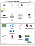 Lista de Vocabulario Sports Equipment