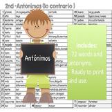 Lista de antonimos