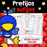 Lista de prefijos y sufijos- Spanish