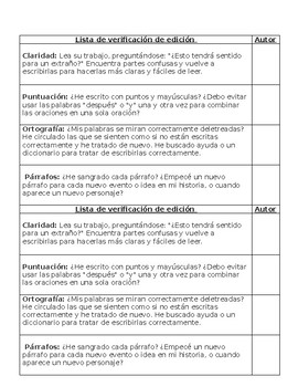 Lista de verificacion narrativa personal