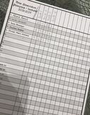Liste de classe 8 1/2 x 11 modifiable
