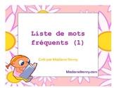 Liste de mots fréquents (1)
