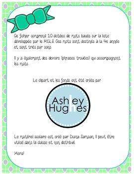 Liste de mots orthographique MELS-Dictées de 4e année et devoirs-Pour la rentrée