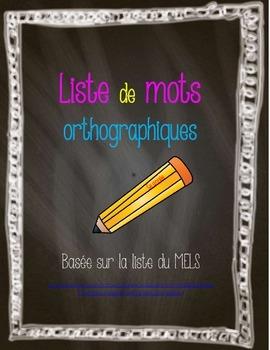 Liste de mots orthographique triée du MELS-Dictées de 5e a