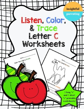 Listen, Color, and Trace: Letter C