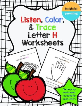 Listen, Color, and Trace: Letter H