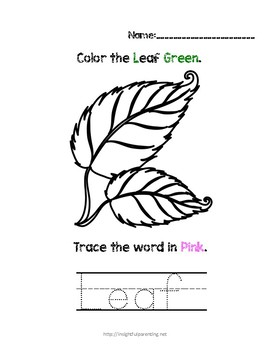 Listen, Color, and Trace: Letter L