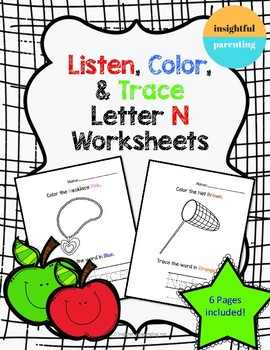 Listen, Color, and Trace: Letter N