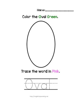 Listen, Color, and Trace: Letter O