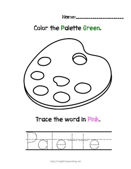 Listen, Color, and Trace: Letter P