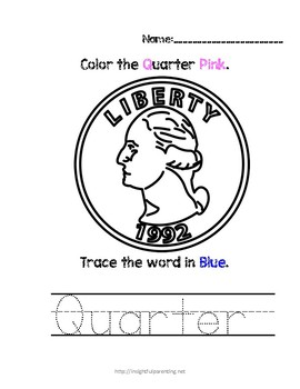 Listen, Color, and Trace: Letter Q