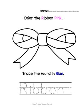 Listen, Color, and Trace: Letter R