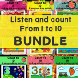 Listen & Count Audio bundle   Numbers 1 to 10 Boom cards