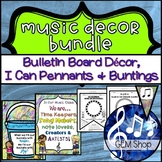 MUSIC Decor BUNDLE, Bulletin Board, Focus Wall, Pennants,