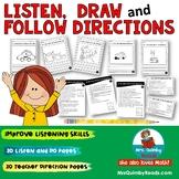 Listen, Draw, Follow Directions   Listening Activity   Literacy Skills