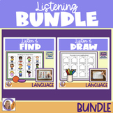 Listen & Draw + Listen & Find Bundle! Auditory memory, directions & language