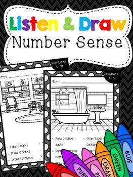 Listen & Draw Number Sense