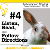 Listen, Read, Follow Directions Fun Game builds critical academic skills  #4