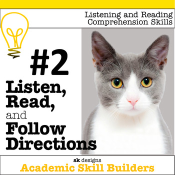 Listen, Read, Follow Directions Fun Game builds critical academic skills  #2
