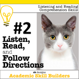 Listen, Read, Follow Directions Fun Game builds critical academic skills  #2