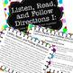 Listen, Read, Follow Directions Fun Game builds critical a