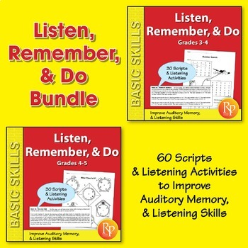 Listen, Remember, & Do {Bundle}