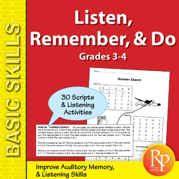 Listen, Remember, & Do (Grades 3-4)