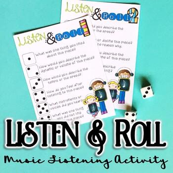 Listen & Roll, Music Listening FREEBIE