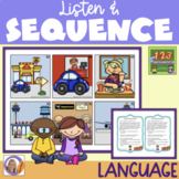 Sequence 123- listen to a story & order pictures to match