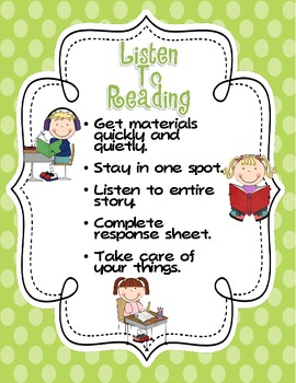 Listen To Reading Posters Freebie In Three Styles