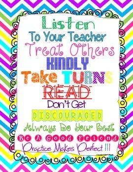 Listen To Your Teacher Poster