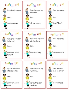 Listen Up!:  A Hear! Think! Do! Activity to Get Kids Listening & Moving