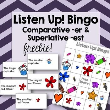 Listen Up! Bingo Game -er & -est