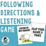Following Directions - Listening Game