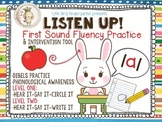 Listen Up! First Sound Fluency Practice RTI & DIBELS Intervention Tool