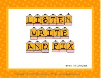 Listen, Write and Fix