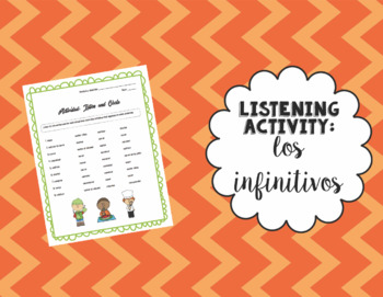 Listen and Circle Activity: Infinitives