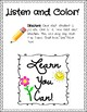 Listen and Color Activity