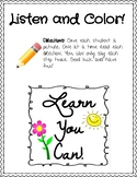 Listen and Color Activity- FREEBIE
