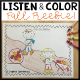 Listen and Color Fall FREEBIE: A Listening Comprehension Activity/Assessment