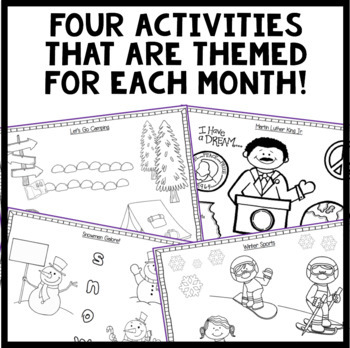 Listen and Color January: A Listening Comprehension Activity/Assessment