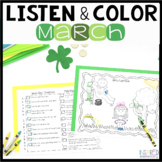 Listen and Color March | Following Directions Activities |