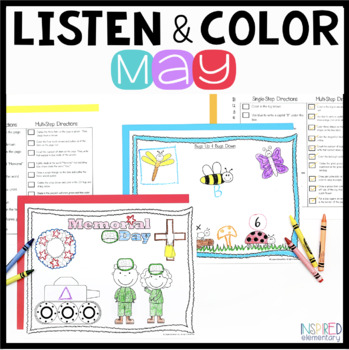 Listen and Color May: A Listening Comprehension Activity/Assessment