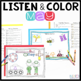 Listen and Color May: A Listening Comprehension Activity/A