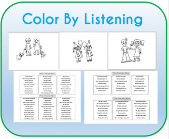Color by Listening (Pronouns)