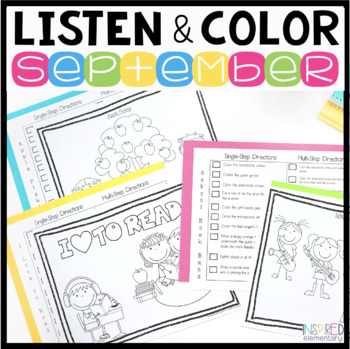 Listen and Color September: A Listening Comprehension Acti