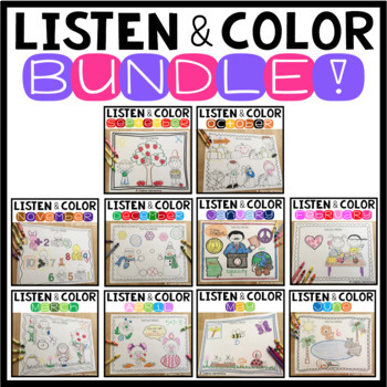 Listen and Color Through the Year BUNDLE!