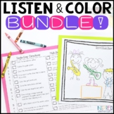 Listen and Color Through the Year BUNDLE | Following Direc